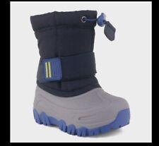 Cat & Jack Barrett Navy Blue Gray Snow Boots Toddler 4