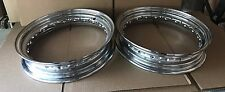 "Two Replica Harley Knucklehead Flathead Chrome Rims 16"" 40 Spoke 43509-40 (1023)"