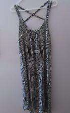 LUKA Maxi Summer Dress Black & White Geometric Print - Size 8