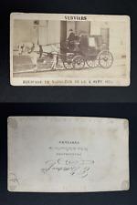 Equipage de Napoléon III, 4 septembre 1870 CDV vintage albumen print. Ti