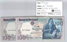 2 BILLETS PORTUGAL - 100 ESCUDOS - 2.9.1980 et 24.2.1981 *