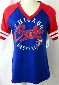 """Chicago Cubs Women Medium Short Sleeve """"CHICAGO CUBS BASEBALL"""" T-shirt CGC 42"""