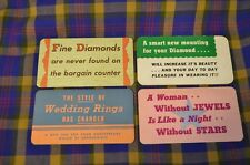 Vtg 4 KIRCHNER & RENICH Diamond/Jewelry Store Advertising Placards-Minneapolis