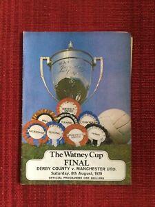 Derby v Manchester Utd 1970 Watney Cup Final + Parking / Fixtures Leaflet