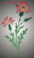 Red Campion Wild Flower Stencil, 350 micron Mylar not thin stuff #FL010