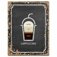 PP0762 Cappuccino Chic Plate Sign Home Bar Kitchen Cafe Store Shop Decor Gift