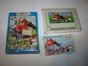 Choujin Ultra Baseball Famicom NES Japan import boxed + manual US Seller