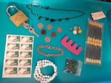 Coin Collection Lot-X, marbles, stamps, jewelry, junk drawer items.