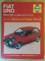 Fiat Uno 1983-95 - Haynes Service and Repair Manual
