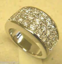 Lady's Women's Men's Pinky Rhodium Plated 27 CZ Pave Ring Band Size 7.5 New