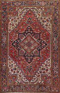 Geometric Semi Antique Traditional Handmade Area Rug Living Room Oriental 8x10