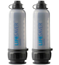 TWO 2 x LIFESAVER 6000 LITERS FILTRATION WATER FILTER BOTTLE 6000UF NO VIRUSES
