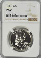 1961 50c Franklin Proof Silver Half Dollar Fifty Cents NGC PF68 Gem Unc