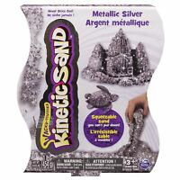 Kinetic Sand 1lb Metallic Silver (454g)  Original authentic Spinmaster play sand