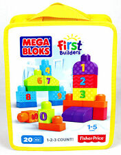 Fisher Price Mega Bloks FIrst Builders 1-2-3 Count Building Block Set 20-Pcs NEW