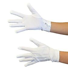 Danzcue Adult White Glove with Snap Back (Pair)