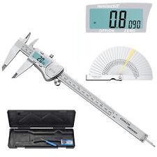 0 8in Stainless Steel Digital Caliper Electronic Vernier Micrometer Feeler Gauge