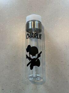 Ninja Kid Water Bottle Personalised Name Vinyl Stickers Decal