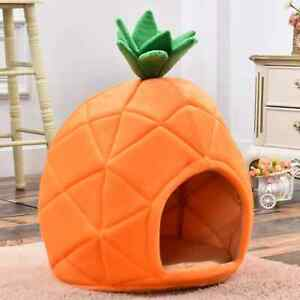 Dog Bed Sofa Cat House Blanket SpongeBop House Cave Bed Cat Puppy Pineapple Bed