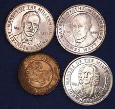 Millennium medallions Fleming Watt Harrison 27mm & other *[17914]