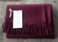 Alicia Adams 100% Baby Alpaca Throw - Purple - Ret. $450 - New
