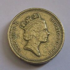1990 Elizabeth II UK Coin 1 Pound Circulated
