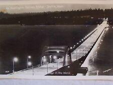 RPPC LAKE WASHINGTON PONTOON BRIDGE, SEATTLE, WA! REAL JOHNSTON PHOTO POSTCARD