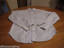 Men's muscle Abercrombie and & Fitch long sleeve work school dress shirt small