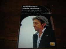 SERGE GAINSBOURG - RARE CARTE POSTALE HOMMAGE !!!!!!!!!