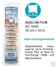 10 m Avalon Film, 30 cm breit, wasserlösliche Folie von Madeira, sticken + nähen