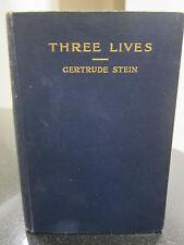 Three Lives Gertrude Stein. 1909 First Edition. 1st Printing. 1909 Grafton Press