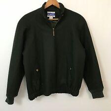 Pendleton Green Wool Bomber Jacket Womens SZ S VTG #B