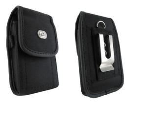 Canvas Case Holster Belt Clip/Loop for Verizon Kyocera DuraXV Dura XV Plus E4520
