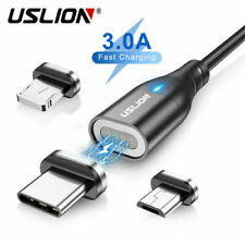 3A Magnetic Fast Charge Cable Type-C Micro USB For Android iPhone Samsung Xiaomi