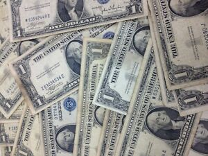 BULK Lot (50) - 1957 $1.00 Dollar US Note Silver Certificate Collection $50
