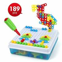 LBLA 189pcs Drill Design Puzzle Creative Toys Construction Toy 3D Mosaic