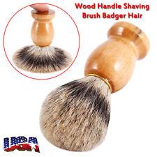Men Bear Shaving Brush Faux Badger Hair Shave Wood Handle Razor Barber Tool.