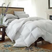 100% Cotton Duck Feather & Down Box Stitched Duvet Quilt All Size 13.5TOG