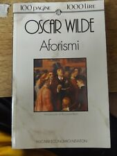 AFORISMI BY OSCAR WILDE 1992 PAPERBACK BOOK