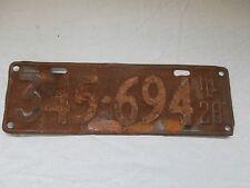Illinois 1928 - 345-694 - License Plate - Some Original Paint