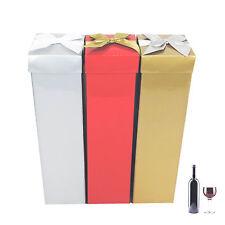 3 x Bottle Bags Christmas Present Wine Bottle Gift Decorative Glitter box