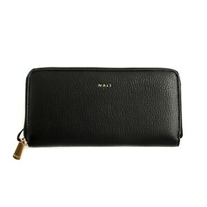 Women's Wallet Shoulder Bag Nalì Woman Eco-Leather Saffiano Black Several Spaces