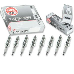 8 pcs NGK V-Power Spark Plugs for 2001-2017 Chevrolet Silverado 2500 HD 6.0L as