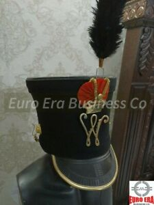 New Napoleonic Prussian Shako HAT & Cord & Badge Repro all sizes available