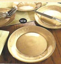 Princess House Princess Heritage Gold Luncheon/Dessert Plates - Set of 4  6211