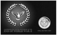 2020 75th ANNIVERSARY OF THE END OF WWII 10c 1/10oz Silver Coin on Card