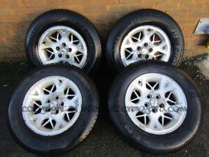 Jeep Grand Cherokee ZJ ZG 93-99 alloy wheel set alloys x4 + 225 70 16 tyres