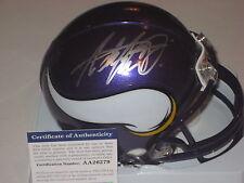 ADRIAN PETERSON Signed Minnesota VIKINGS  Mini-helmet w/ PSA COA