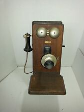 Antique Wall Phone Western Electric Company 250 W 20x9x12 inches with shelf  517