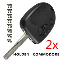 2PCS 3 Button Remote Key Fob Case Shell for Holden Commodore VS VT VX VY